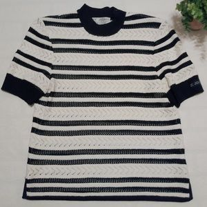 VTG St.John Collection w/Logo Sleeve Knit Velvet